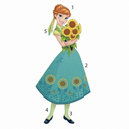 Disney Frozen Fever Anna Peel And Stick Giant Wall Decal