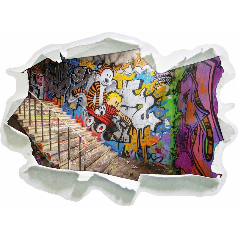 Pixxprint wandtattoo coloured streetart graffiti - Wandsticker graffiti ...