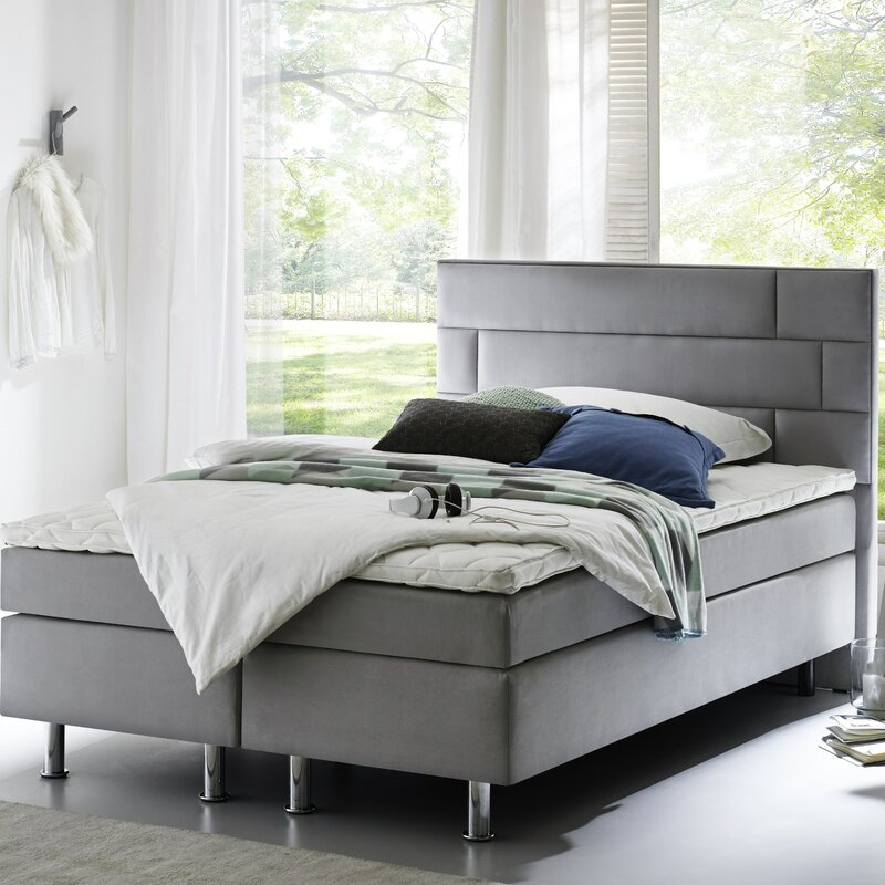 atlantic home collection boxspringbett boris mit topper. Black Bedroom Furniture Sets. Home Design Ideas