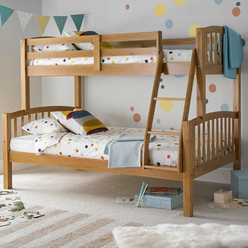 Viv Rae Aaliyah Triple Sleeper Bunk Bed With Mattresses Wayfair