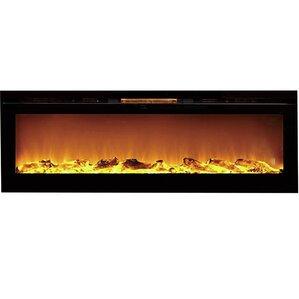 Barajas Black Wall Mount Electric Fireplace by Brayden Studio