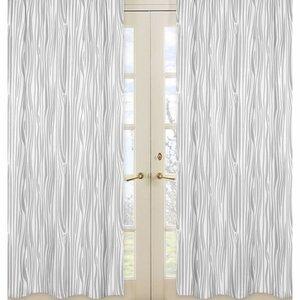 Woodland Deer Nature/Floral Semi-Sheer Rod pocket Curtain Panels (Set of 2)