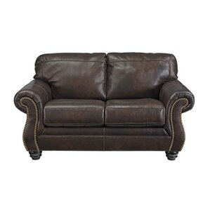 Baxter Springs Leather Loveseat by Darby Home Co