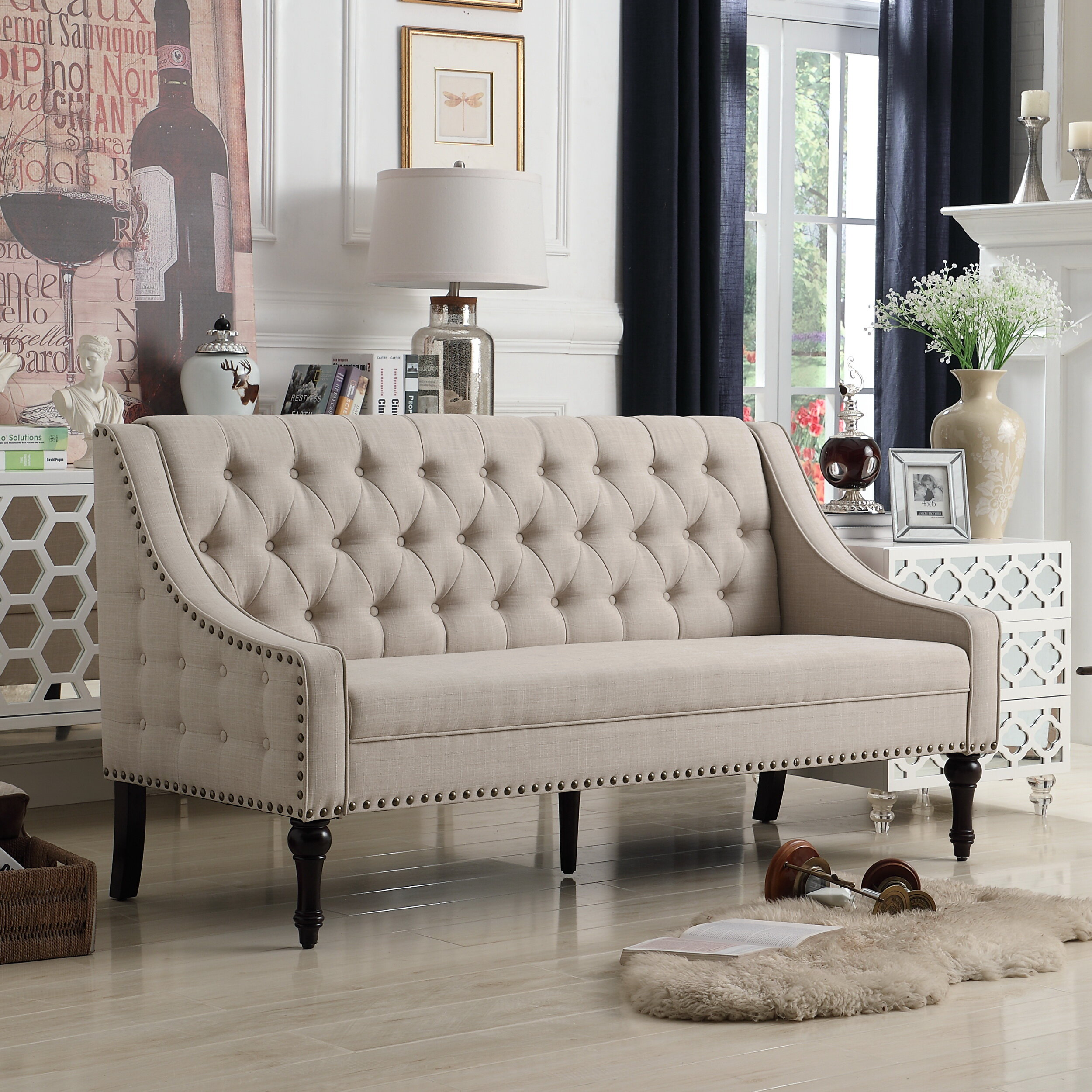 Outstanding Tufted Couch Home Decorating Styles Pdpeps Interior Chair Design Pdpepsorg