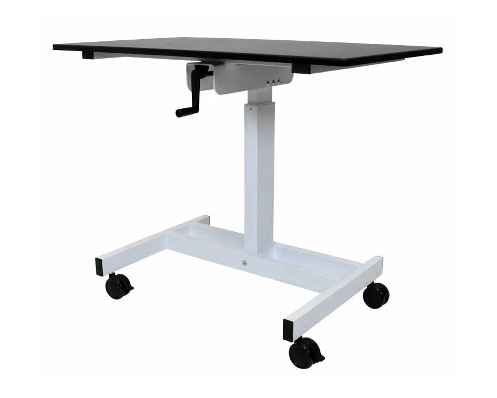 Offex Single Column Crank Standing Desk | Wayfair