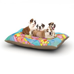Catherine Holcombe 'Circle Turtle' Dog Pillow with Fleece Cozy Top