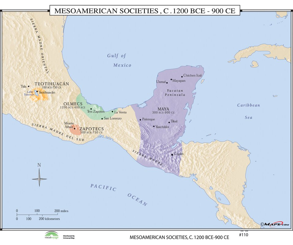 Universal map world history wall maps mesoamerican societies world history wall maps mesoamerican societies gumiabroncs Images