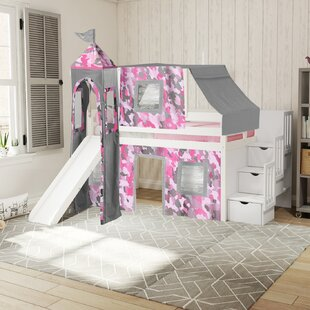 Kids Princess Castle Bunk Bed Wayfair
