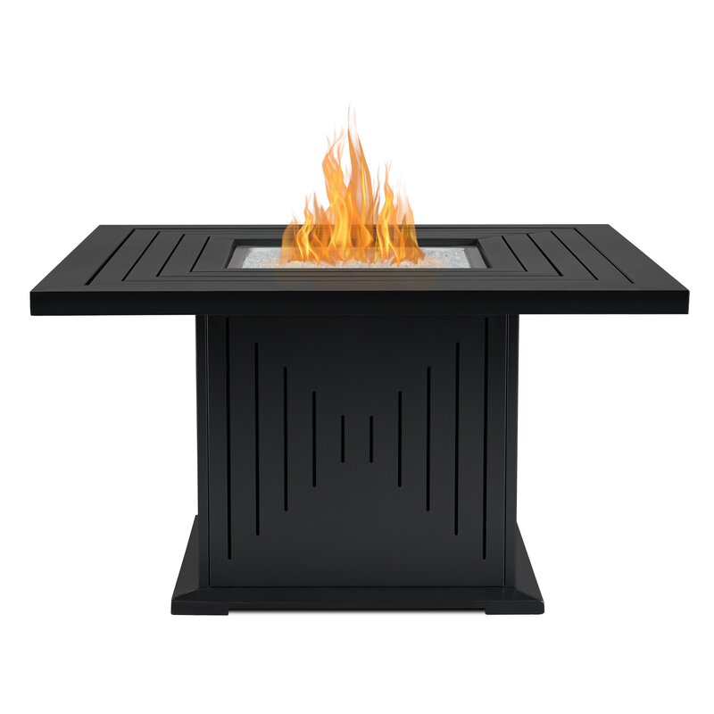 Real Flame Cavalier Aluminium Propane Fire Pit Table Wayfairca