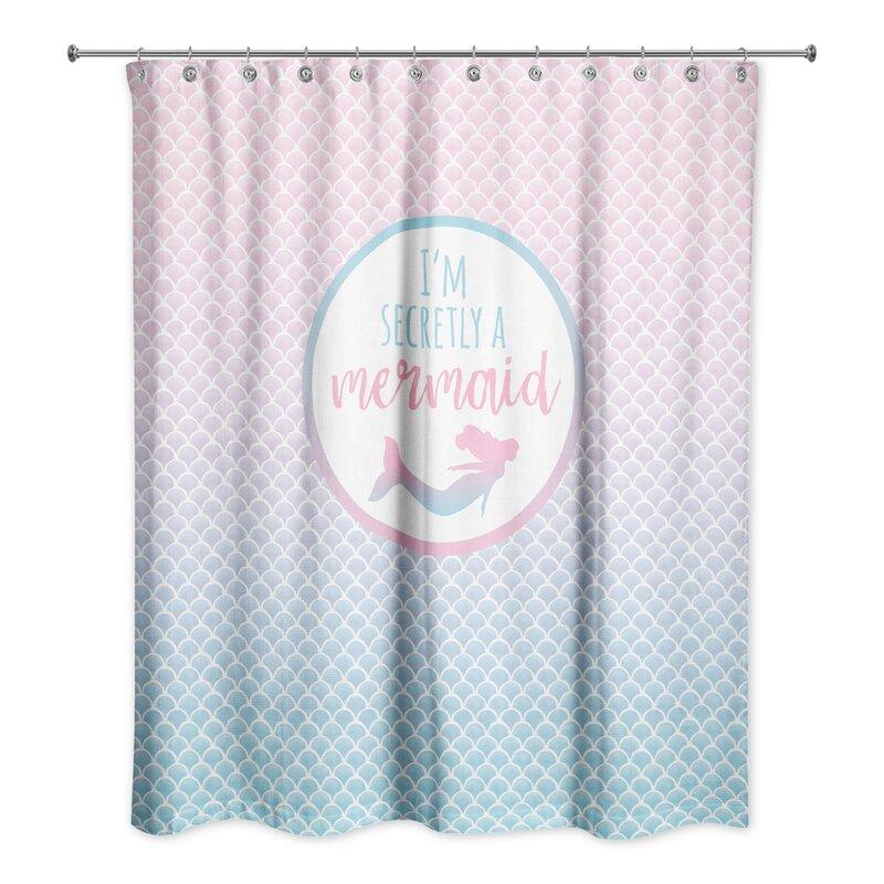 Allia Secretly A Mermaid Shower Curtain