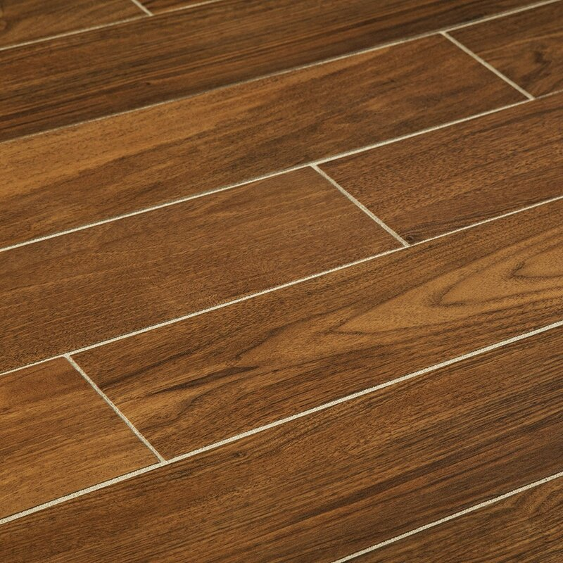 "Manor 6"" x 36"" Porcelain Wood Look Tile | Wayfair"