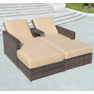 Superbe 4 Piece Double Chaise Lounge With Cushion