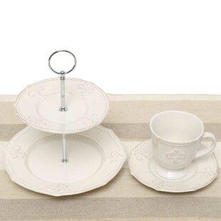Fleur De Lis 5 Piece Tea Setting Service for 2  sc 1 st  Wayfair & French Country Dinnerware Sets You\u0027ll Love
