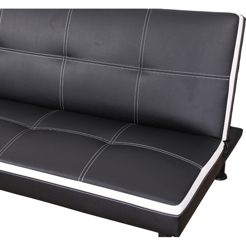 Evianna Faux Leather Convertible Sofa