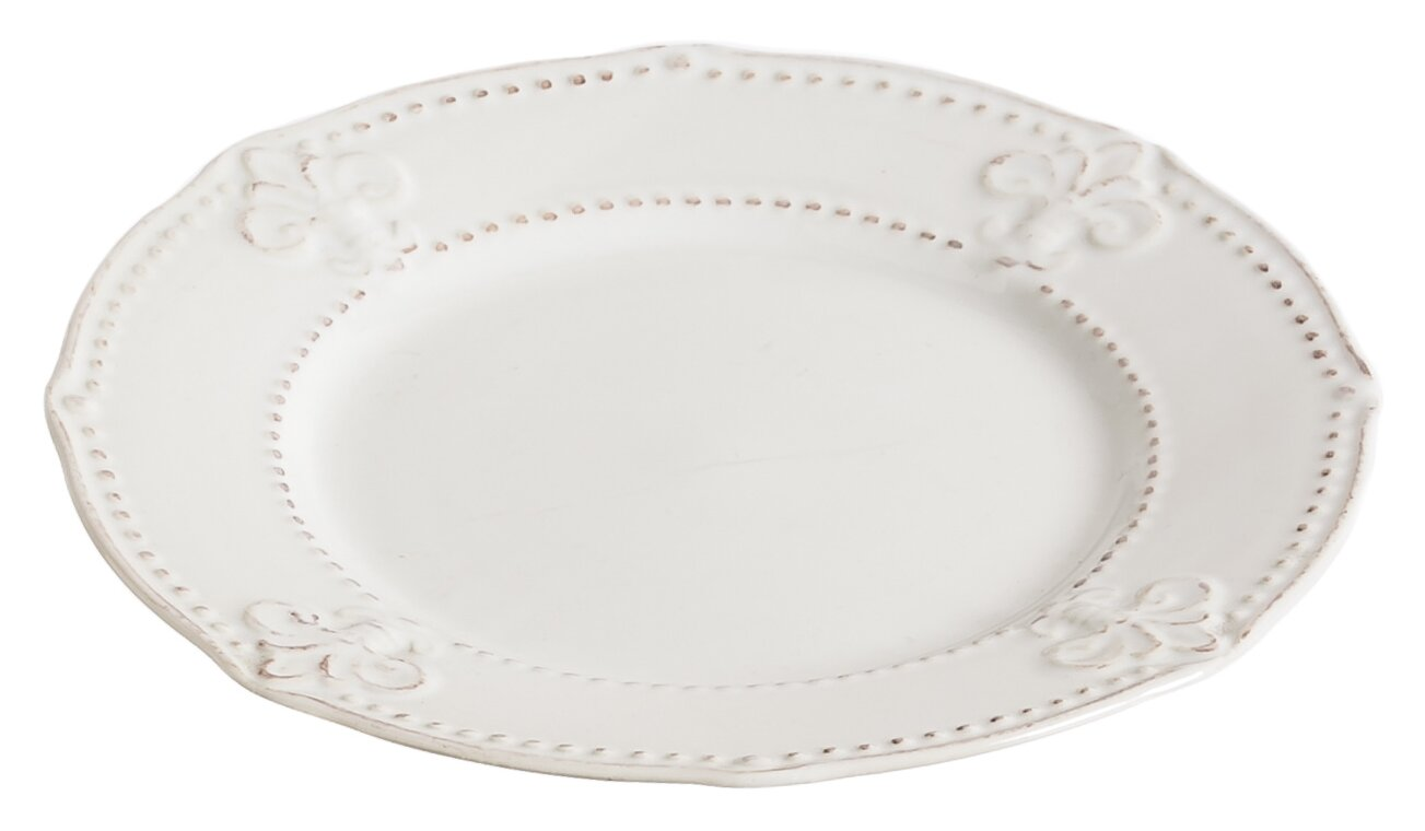 Cyrielle Fleur de Lis 9  Ceramic Salad Plate  sc 1 st  Wayfair & Lark Manor Cyrielle Fleur de Lis 9