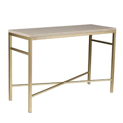 Zipcode Design Lindsey Console Table in Travertine