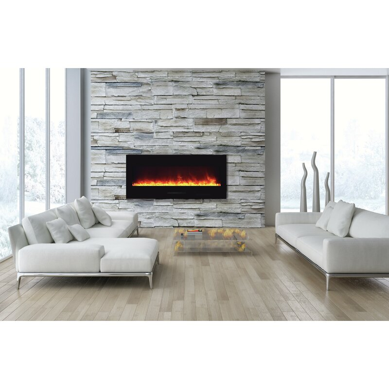 Georgio Design Bank.Orren Ellis Georgio Wall Mounted Electric Fireplace Wayfair