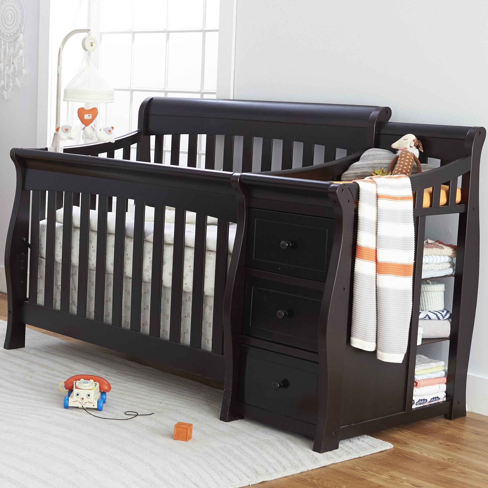 Sorelle Tuscany 4 In 1 Convertible Crib And Changer Reviews Wayfair