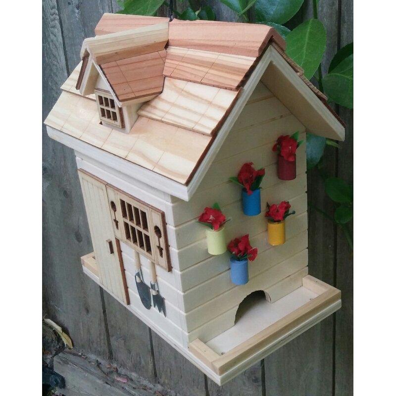 Home Bazaar Potting Shed Decorative Hopper Bird Feeder
