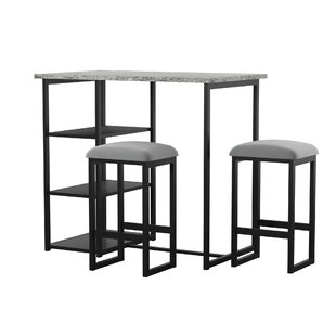 Modern Simple Bar Chair And Table Pu And Iron Art Coffee Shop Luxurious Style High Stool Stool Desk Chair Set Dining Table Chair Furniture Bar Chairs