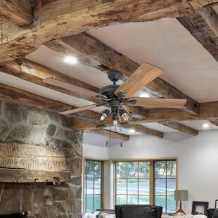 rustic ceiling fans to 52 farmhouse rustic ceiling fans birch lane