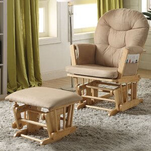 Rehan Swivel Glider and Ottoman