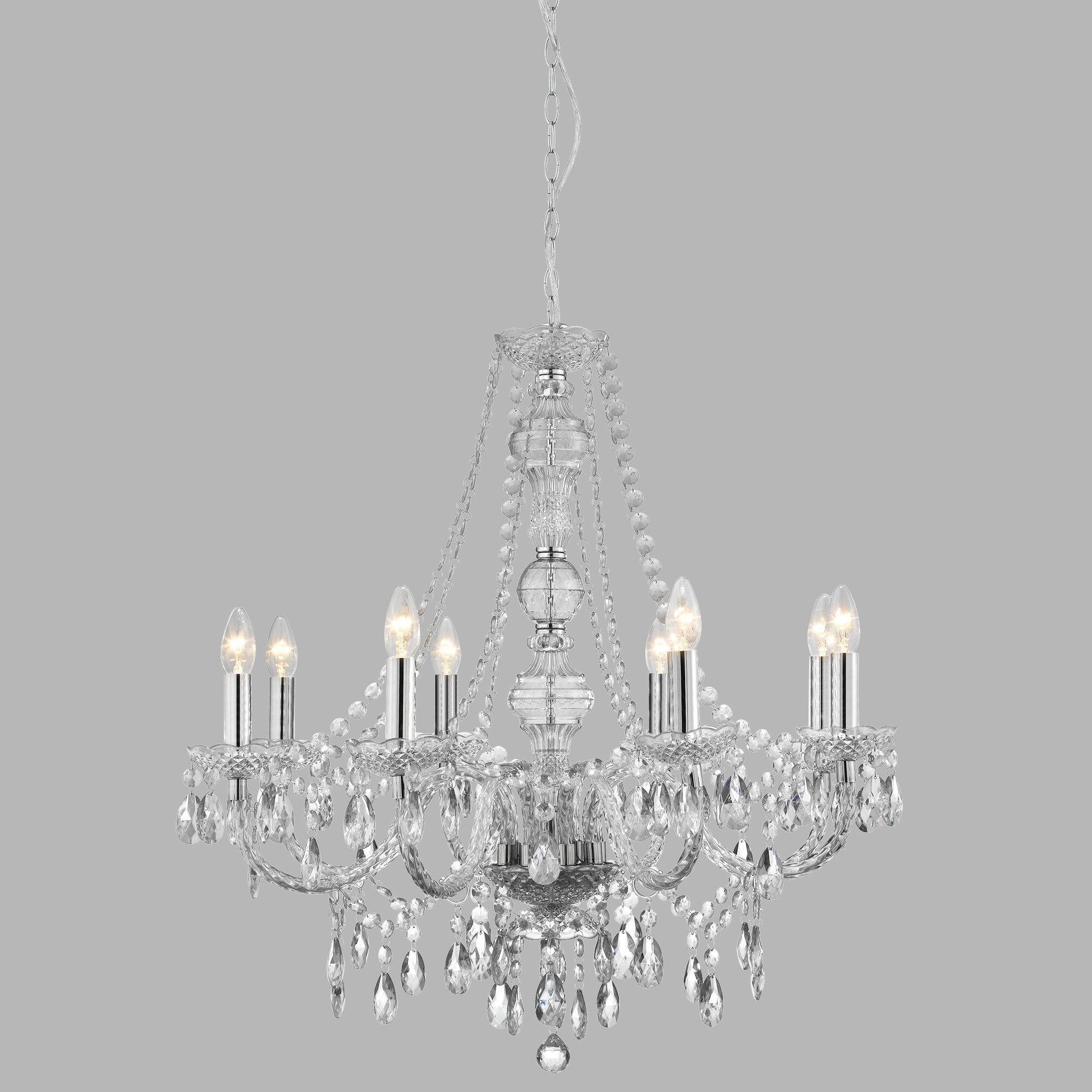 Aurelio 8-Light Candle-Style Chandelier