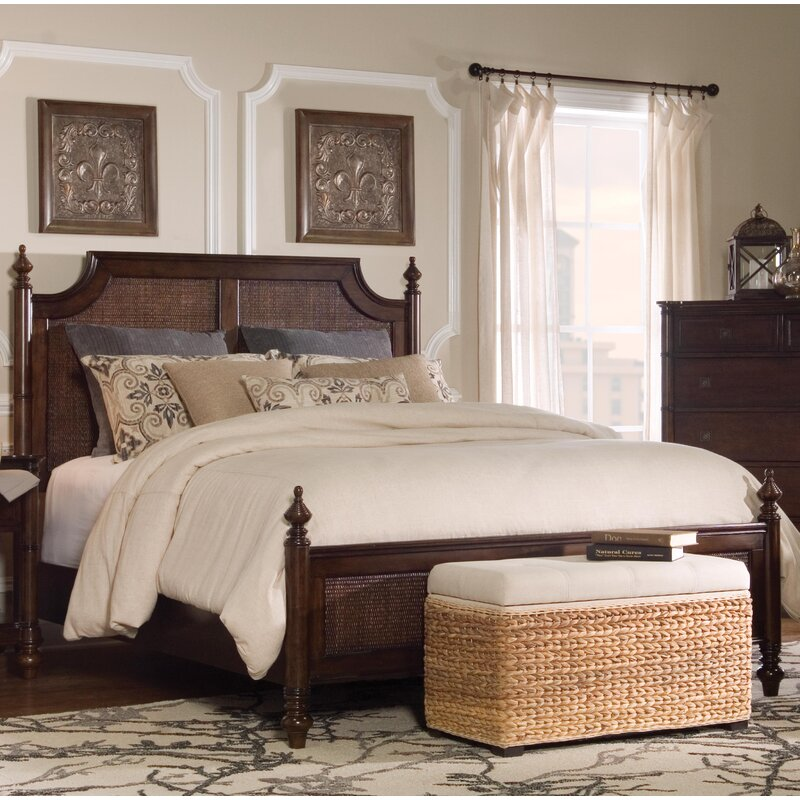Passages Rattan Canopy Bed