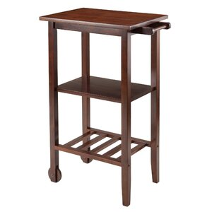 Stevenson Kitchen Cart with Wood Top