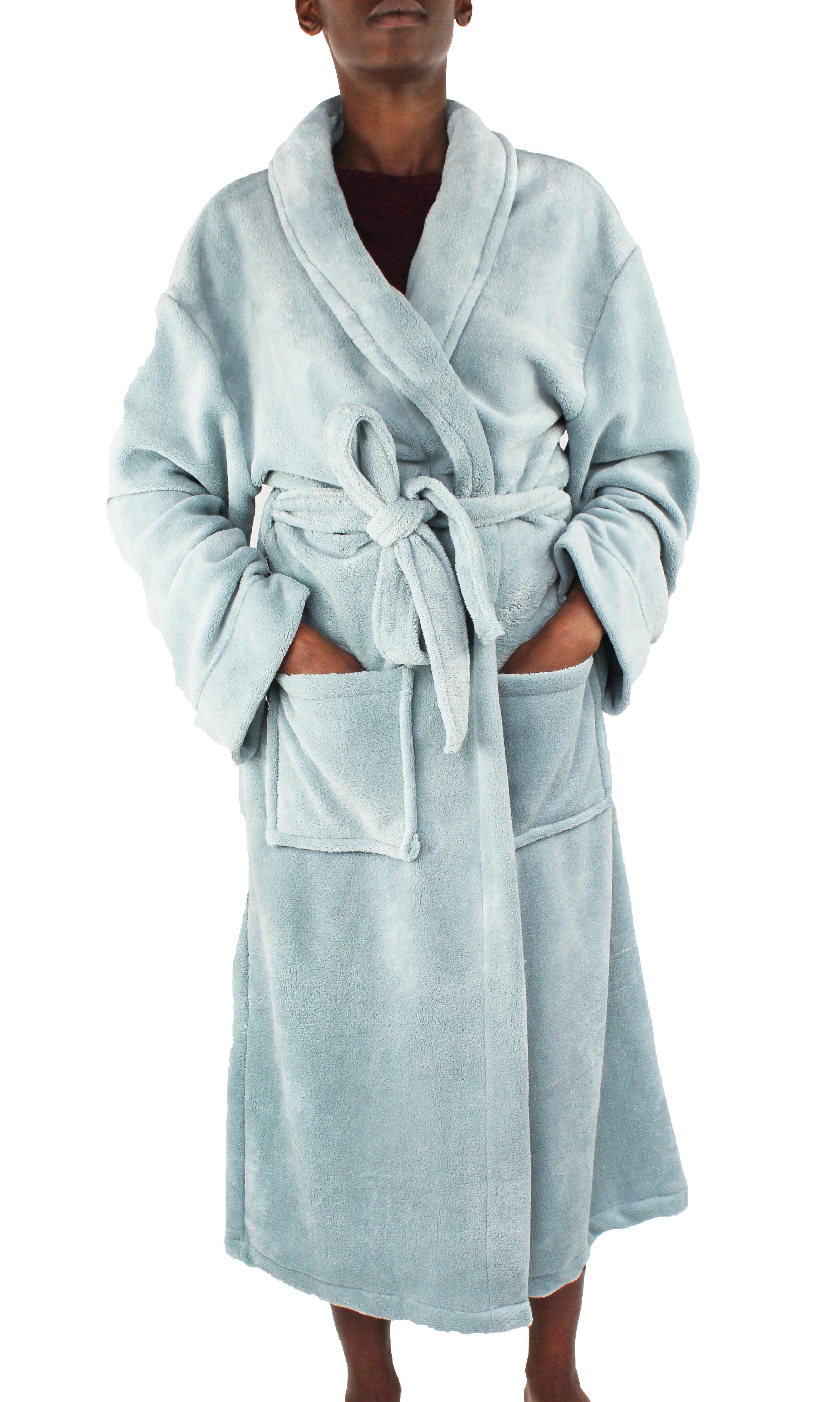 3ec587024db54 Melange Home Micro Fleece Bathrobe   Reviews