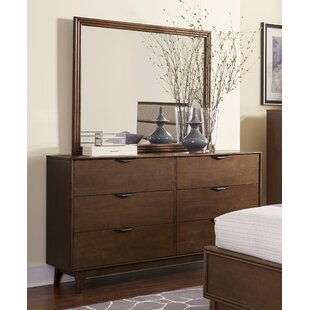 Theresa 6 Drawer Double Dresser With Mirror