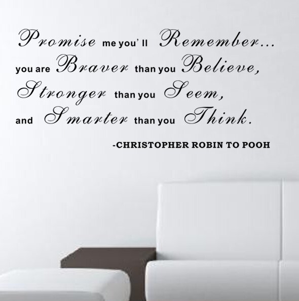 Promise Me Youu0027ll Remember   Christopher Robin To Pooh Wall Decal Part 59