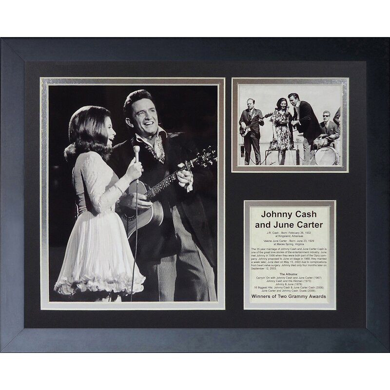 Legends Never Die Johnny Cash and June Carter Framed Memorabilia ...