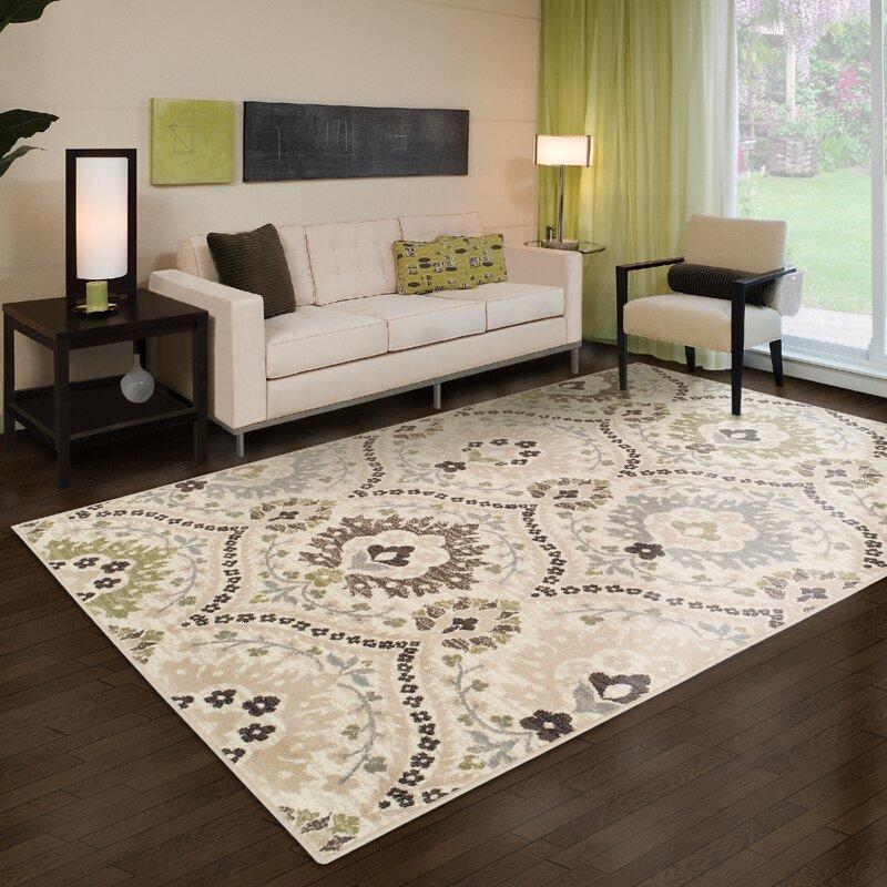 green living room rug. Jenn Ivory Green Area Rug Ophelia  Co Reviews Wayfair