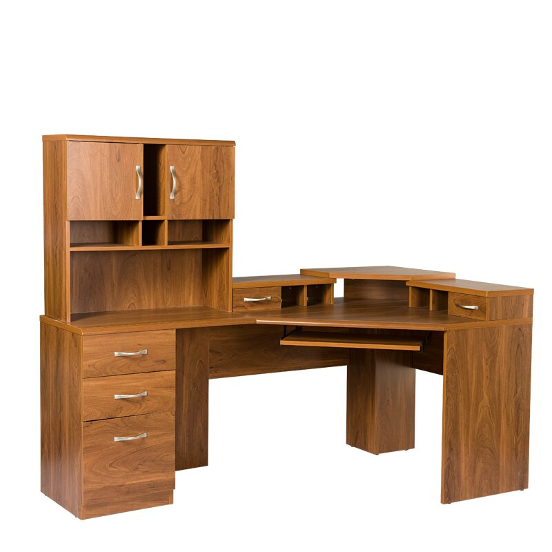 Leavy Reversible L Shape Desk With Hutch