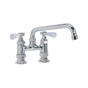 Premier Faucet Commercial Double Handle Standard Kitchen Faucet with Spout