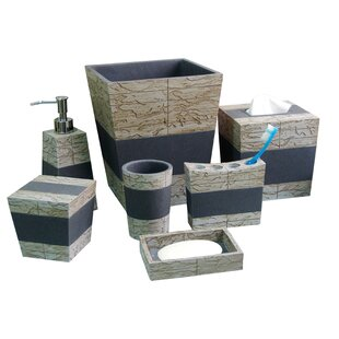 Stone Coloured Bathroom Accessories. Loeffler Rustic Stone 8 Piece Bathroom Accessory Set Accessories You ll Love  Wayfair