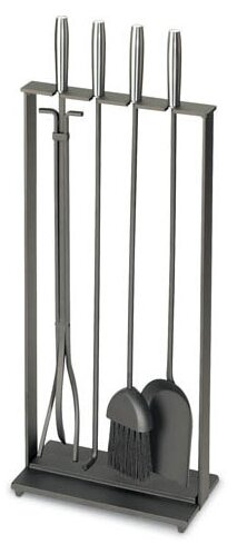 Pilgrim Hearth Soldiered Row Modern 5 Piece Steel