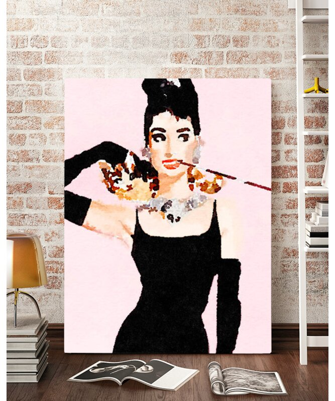 Artzee Designs \'Modern Audrey Hepburn Watercolor\' Wall Art on ...