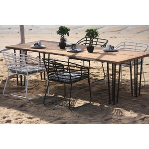 Exo Aluminum/Teak Dining Table