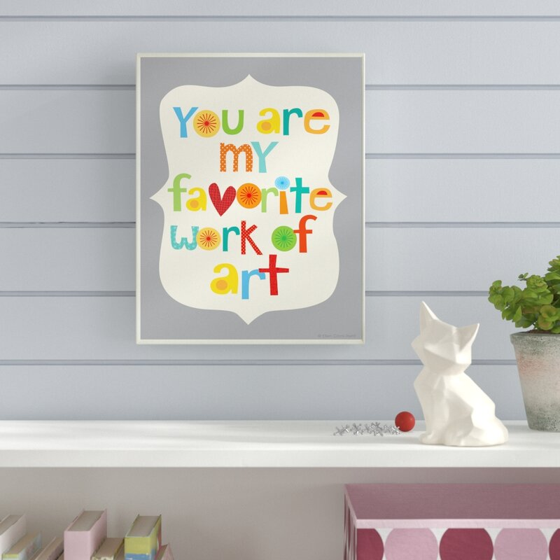 Viv + Rae \'You Are My Favorite Work of Art Colorful\' Framed Textual ...