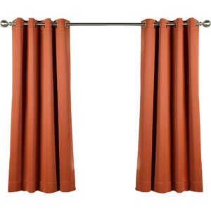 Plush Solid Blackout Thermal Grommet Curtain Panels (Set of 2)