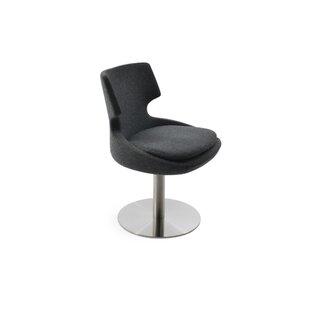 Elrod Swivel Upholstered Dining Chair
