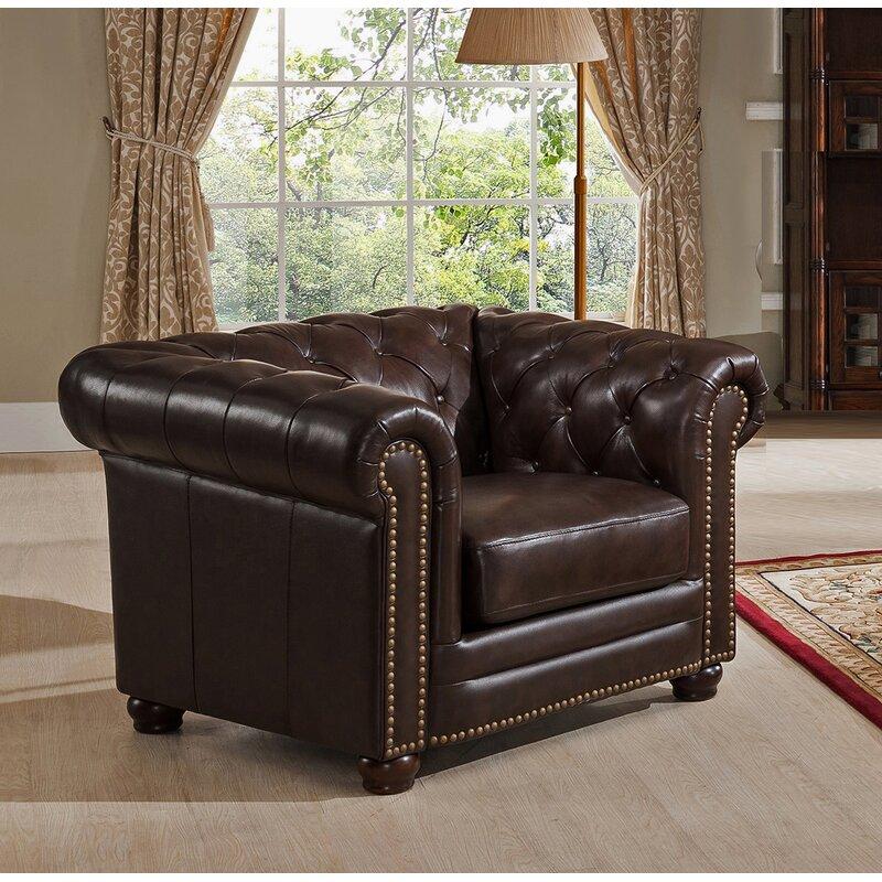Amax Kensington 3 Piece Leather Living Room Set