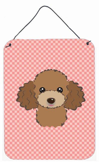 Caroline\'s Treasures Checkerboard Pink Chocolate Brown Poodle by ...