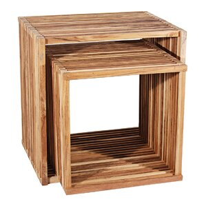 2 Piece End Table by Ibolili