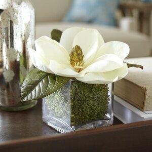 Faux Magnolia Bloom Floral Arrangement