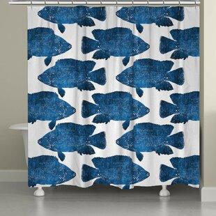 Keilen Fish Shower Curtain