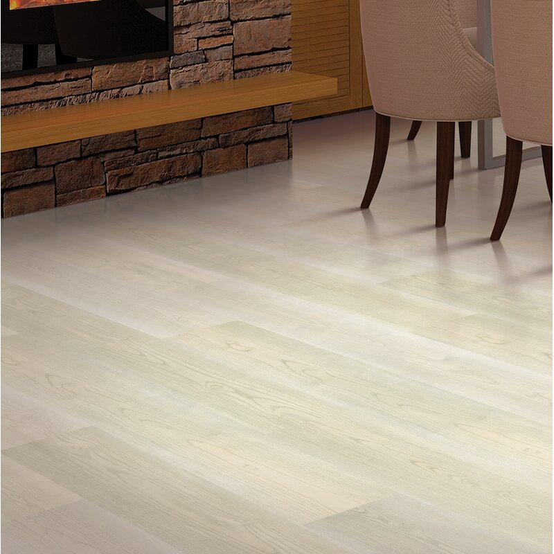 Mohawk 75 X 4725 X 8mm Walnut Laminate Flooring In Fresh Cream