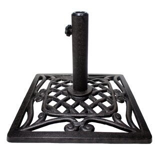 cast iron patio umbrella stands & bases you'll love | wayfair Patio Umbrella and Base